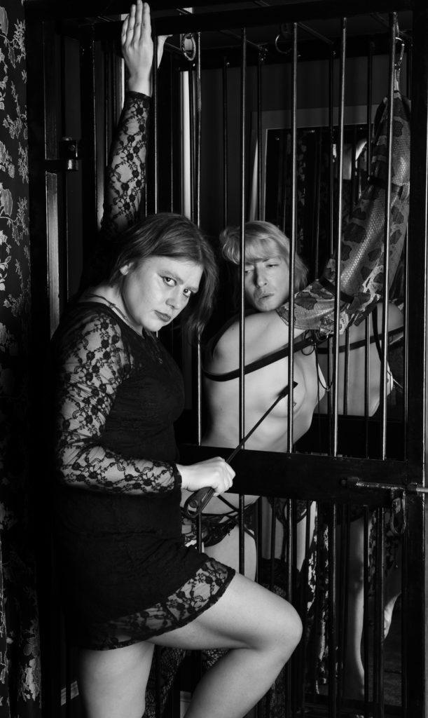 mistress-vixen-bondage-cage-armbinder-alexia